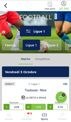 Application Parionssport En Ligne Pour Iphone Et Android