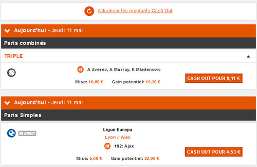 Cash-out chez Pmu