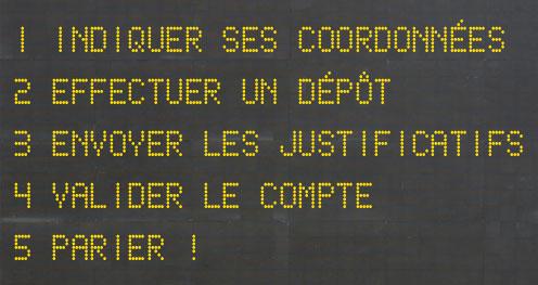 Inscription Sur Un Site De Pari Documents Code Validation