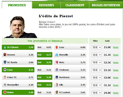 Application Facebook chez Unibet
